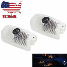 2 x Logo LED Step Door Courtesy Car Welcome Light Ghost Laser Projector USA