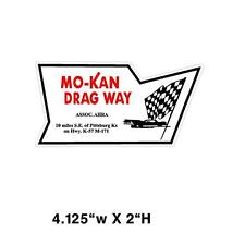 Mo-Kan Dragway Window decal sticker NHRA Rat Rod Street Rod Hot Rod