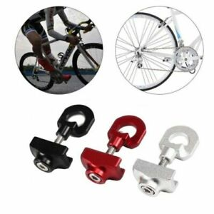 2PCS Aluminum Alloy Bicycle Bikes Chain Tugs Adjuster Tensioner BMX Single Speed