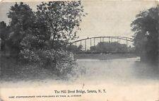 D2/ Savona New York NY Postcard 1909 Mill Street Bridge
