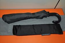 Authentic New Men's Alexander McQueen Black Skull Leather Handle Umbrellas