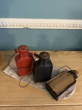 More details for medieval  leather water bottle