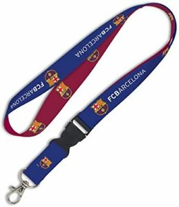 FC BARCELONA PREMIUM LANYARD/KEYCHAIN OFFICIALLY LICENSED