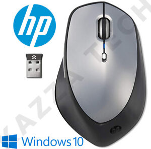 HP NEW X5500 Silver Wireless Laser Sleek Mouse Compact for PC Laptop MAC Linux
