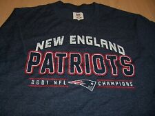 NFL NEW ENGLAND PATRIOTS SHORT SLEEVE BLUE T-SHIRT MENS MEDIUM EXCELLENT