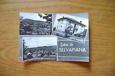 CARTOLINA SALUTI DA SELVAPIANA ALBERGO GENZIANELLA VIAGGIATA 1962 SUBALPINA DD