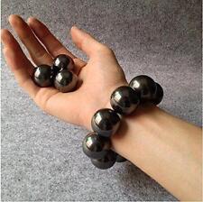 Pair 2Pcs Magnetic Round Ball Neodymium Hematite Singing Magnet 20mm (Black)