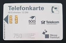 S09 07.90 Telefonkarte Messe Frankfurt 500 Jahre Post 1990 ungebraucht VOLL mint