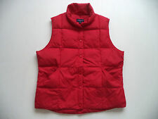 Womens LANDS END down vest Sz L hiking skiing snowboard snowmobile trail ski RED