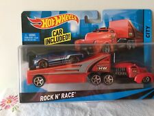 Hot Wheels Rock N' Race Transporter with Car Included New in SEALED Package