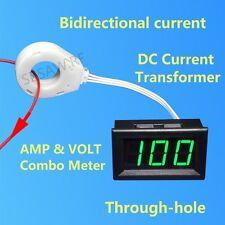 DC Green LED Display Panel Voltmeter 120V ± 300A Current Transformer Hall Sensor