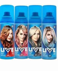 Schwarzkopf LIVE Hair Instant Colour Dye Spray 120 ml FREE POST