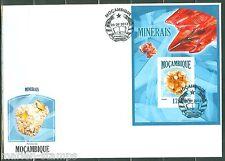 MOZAMBIQUE 2013  MINERALS  SOUVENIR SHEET FIRST DAY COVER