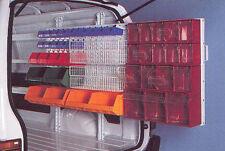 Slide-Out Van Shelving Racking. Louvered Bin Rack. Universal Storage.