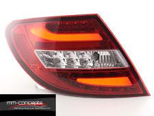 LED Rückleuchten für Mercedes C-Klasse W204 AMG E63 rot/Schwarz E63 Lightbar