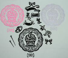 TATTERED LACE CUPCAKE & EMBELLISHMENT DIE CUTS