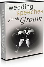 WEDDING SPEECHES For The Groom. Stuck For Words With Your Groom Speech? (CD-ROM)