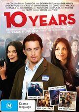 10 Years (DVD, 2013) Channing Tatum  Brand new, Genuine & Sealed  Free Post D80