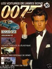 FASCICULE BOOKLET JAMES BOND 007 BMW Z3 GOLDENEYE N°10
