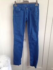 Womens Bright Blue Skinny Jeans Size 34