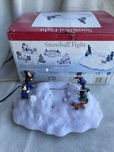 Vintage Mr Christmas Holiday Snowball Fight Animated Winter Wonderland Coll.RARE