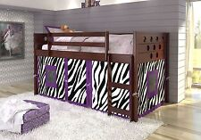 Tent Kit for Low Bunk Beds in Purple Zebra