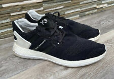 ADIDAS Y-3 PURE BOOST ZG KNIT BLACK / WHITE SIZE 11/46