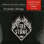 FIRE&STONE acoustique Western Guitare Phosphore Bronze Cordes Lot in 4