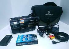 Sony Handycam Hi8 Video Camera Bundle - 8mm Analog Camcorder CCD-TR67