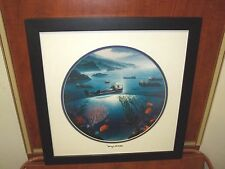 By Wyland Sea Otters  Matted With Silver Foil Stamp Hawaiian Artiest