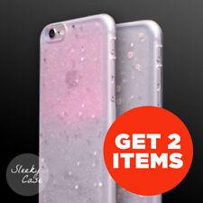 Get 2 Glitter Stars Bling Rubber Clear Sparkle Bumper Case iPhone 8 / 7 / 6 / 5