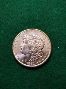 Morgan Silver Dollar 1881-S BU+ , US Coins