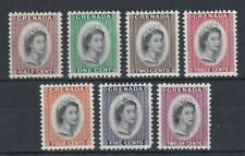 set of 7 mint QEII stamps from Grenada