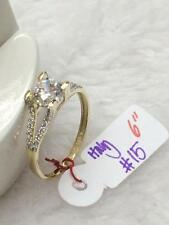 SOLID 14K Italy Gold Engagement Ring - Size 6 /  1.5g