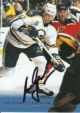 RICHARD SMEHLIK SABRES AUTOGRAPH AUTO 95-96 PINNACLE #187 *8391