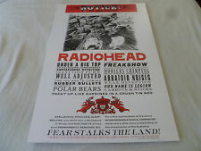 RADIOHEAD CONCERT POSTER TCHOCK & STANLEY WASTE PRODUCTIONS LTD SP 2000 NOTICE