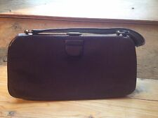 Vintage Brown Frame Handbag/Leather Look/ Unusual/Grace Kelly/1940's/50's/Retro