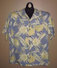 Tommy Bahama -  100% Silk Shirt - Floral Pattern - Button Loop Collar - SZ M
