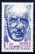 STAMP / TIMBRE FRANCE NEUF N° 2152 ** REVERAND PERE TEILHARD DE CHARDIN
