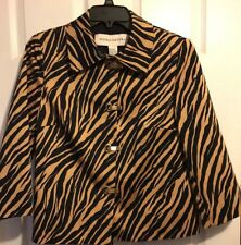 Doncaster zebra brown size 8 jacket beautiful