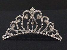 Adult Rhinestone Crown Tiara with Comb