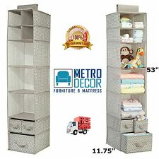 Nursery Closet Organizer Baby Clothes Hanging Storage Home Organization Taupe