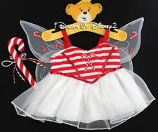 NEW Build-A-Bear CANDY CANE FAIRY DRESS & ACCESSORY Teddy Clothes Costume