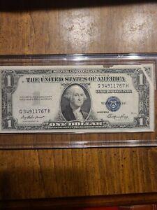 "1935-E $1 ONE DOLLAR SILVER CERTIFICATE CURRENCY NOTE ""GUTTER FOLD ERROR"""