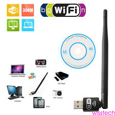 USB Wifi receiver Lan Adapter Mini 150Mbs USB WiFi WPS Wireless 5dbi Antenna W10