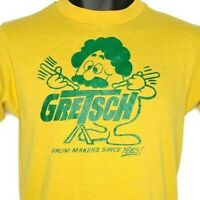Gretsch Drums T Shirt Vintage 80s Drummer Drum Makers Made In USA Size Small