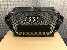 AUDI A3 S3 S-LINE RS3 STYLE GLOSS BLACK GRILLE 8V 2013-2016