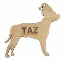 Personalizado De Mascotas Árbol de Navidad Decoración Perro Staffordshire Bull Terrier De Regalo