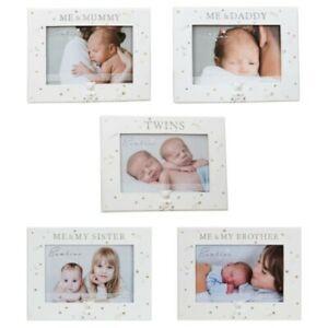 "Baby 6"" x 4"" Photo Frame Bambino Cream Unisex - Choose Design"