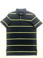 Ralph Lauren RLX Men's Medium Blue Yellow Stripe Polo